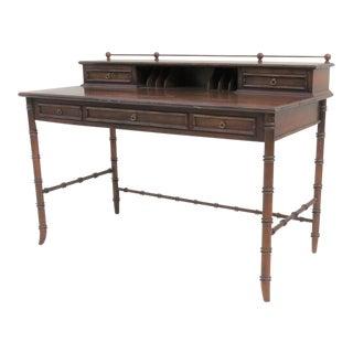 Lane Oak Faux Bamboo Writing Desk