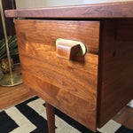 Image of Mid Century Jens Risom Walnut Desk