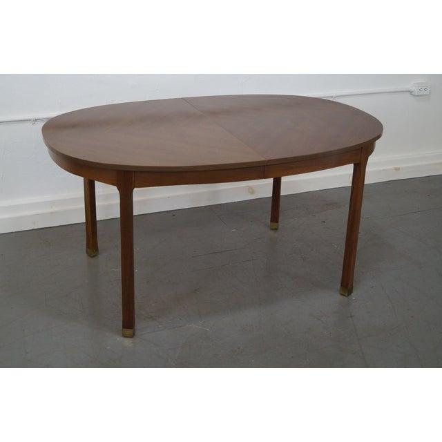 mid century modern walnut oval dining table chairish
