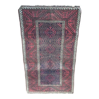 Antique Tribal Baluch Rug - 3′2″ × 5′4″