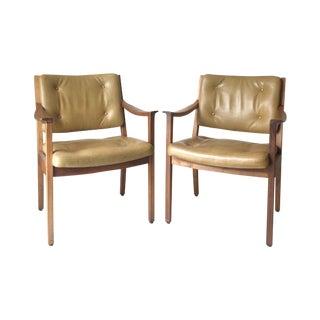 Vintage Danish Modern Gunlocke Walnut Chair - Pair
