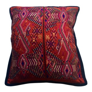Hand Embroidered Mexican Pillow Cover