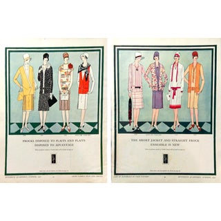 1927 Butterick Fashion Advertisements - A Pair