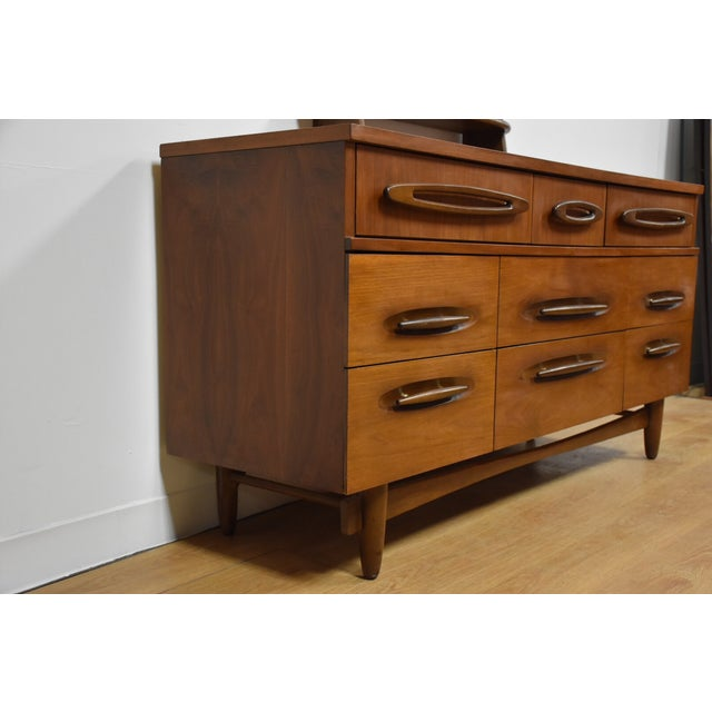 Image of Ward Furniture Walnut Dresser & Mirror