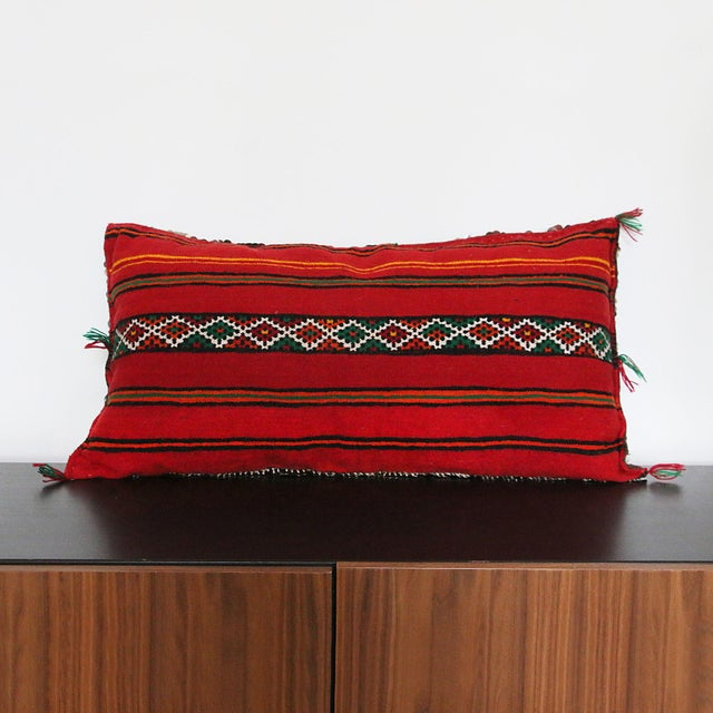 Handcrafted Moroccan Kilim Pillow I - Image 4 of 7