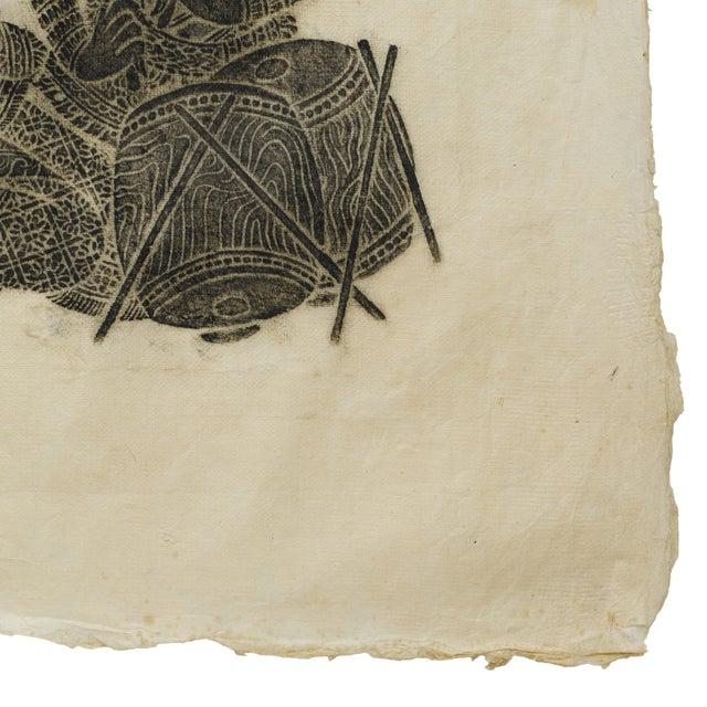 Thai Woodblock Temple Print - Image 3 of 3