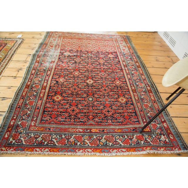 """Distressed Antique Malayer Rug - 4'1"""" X 6' - Image 6 of 8"""