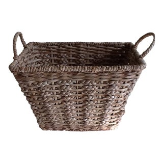 French Woven Rope Basket