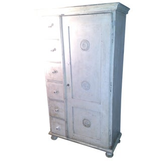 Antique Czech Painter's Safe/Cabinet