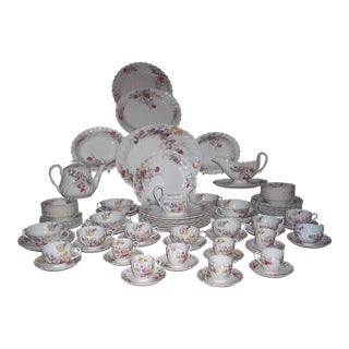 "Vintage Spode China ""Fairy Dell"" Service for 8 (91 Pieces)"