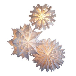 Roost Paper Snowflake Pendant Lamps - Set of 3