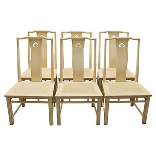 Chinoiserie Yoke Dining Chairs - Set of 6