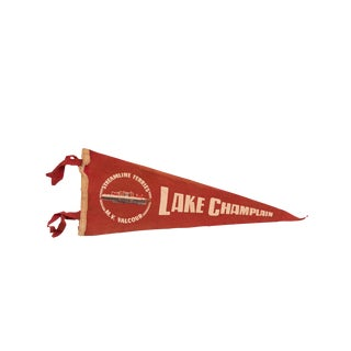 Red Streamline Ferries Lake Champlain Felt Flag