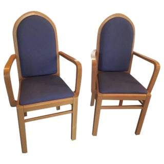 Blonde Wood Dining Chairs - Set of 6