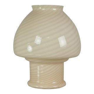 Vetri Murano Ivory Glass Table Lamp