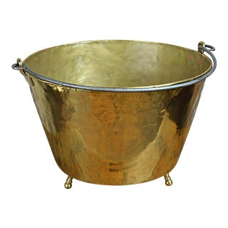 20th Century American Footed Brass Kettle