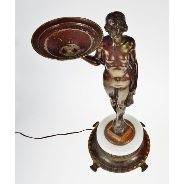 Art Deco Figural Lighted Ashtray Stand - Image 3 of 10