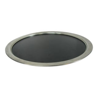 Dutch Round Pewter Tray with Black Insert