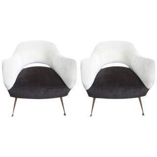 ISA Bergamo Italian Modern Lounge Chairs - A Pair