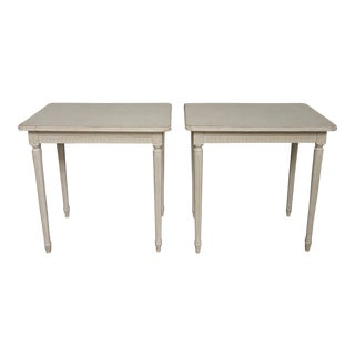 Pair of Simple Gustavian Style Side Tables (#62-32)