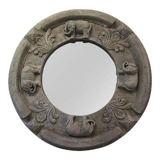 Gray Textured Elephant Mirror