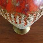 Image of Mid-Century Lava Glaze Ceramic Lamp
