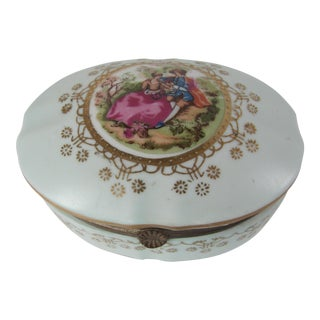 Vintage Porcelain Jewelry Box