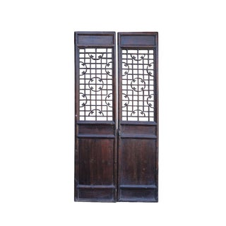 Chinese Antique Ru-Yi Pattern Doors / Wall Panels - A Pair