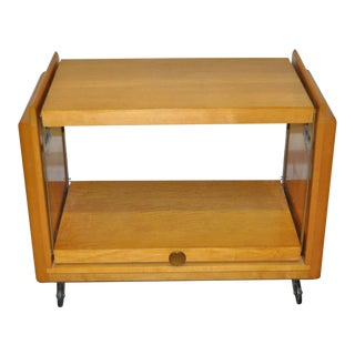 1950s Vintage Brown Saltman Bar Cart