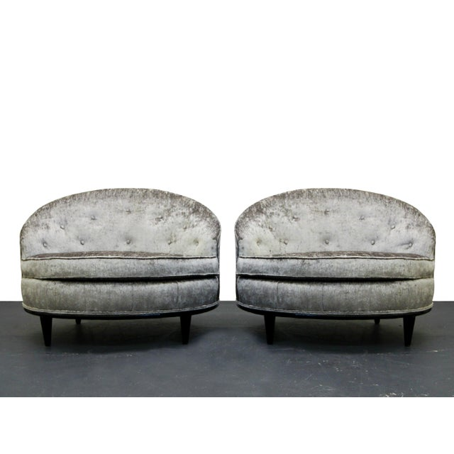 Mid-Century Barrel Back Slipper Chairs - A Pair - Image 4 of 8