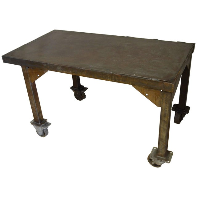 Steel Rolling Coffee Or End Table Chairish