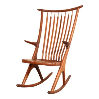 Mid-Century Modern Walnut Rocking Chair