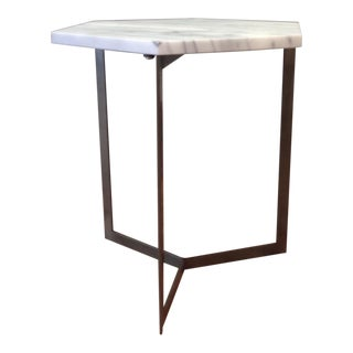 Hexagon Marble Top Side Table