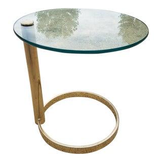 Leon Rosen for Pace Collection Brass & Glass Cantilevered Table