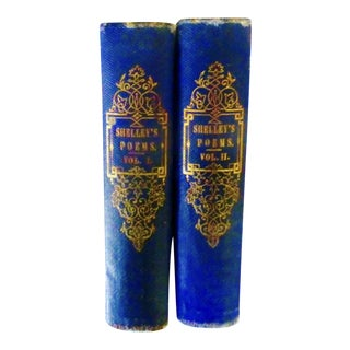 """Shelley's Poems"" 1857 Books By Percy Bysshe Shelley - A Pair"