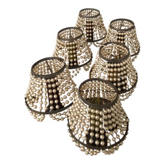 Beaded Clip-On Lamp Shades - Set of 6