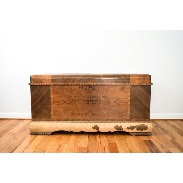 Art Deco Lane Cedar Chest Trunk - Image 5 of 9
