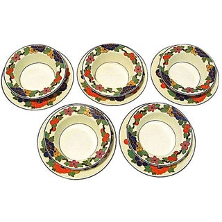 English Ramekins & Saucers - Set of 10