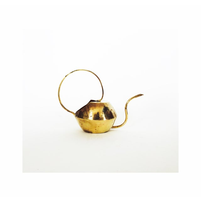 Image of Vintage Brass Cactus Watering Can