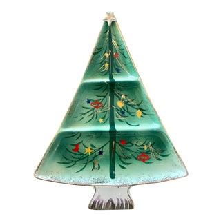 Mid-Century Modern Japanese Ceramic Christmas Tree Platter