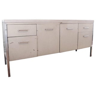 Herman Miller Style Steel and Marble Credenza