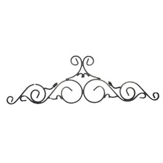 Large Black Architectural Pediment
