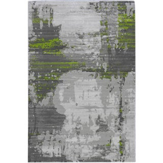 Abstract Green Rug - 5'3''x 7'8''