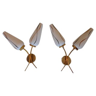 1960s Vintage French Sconces - a Pair