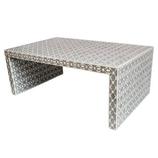 Grey Inlay Coffee Table