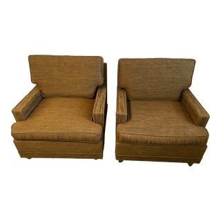 Mid-Century Danish Selig Monroe Lounge Chairs - A Pair
