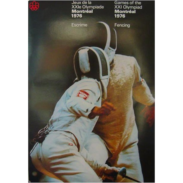 1976 Montreal Olympics Fencing Poster - Image 3 of 3