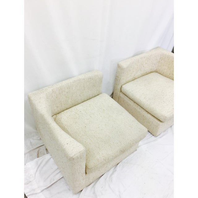 Vintage Mid-Century Modern Milo Baughman Arm Chairs - A Pair - Image 7 of 10