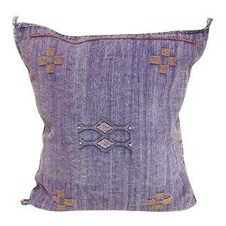 Purple Cactus Silk Pillow