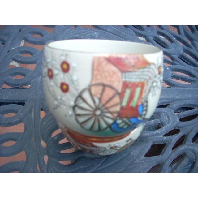Vintage Chinoiserie Tea Seat - Set of 11 - Image 6 of 6